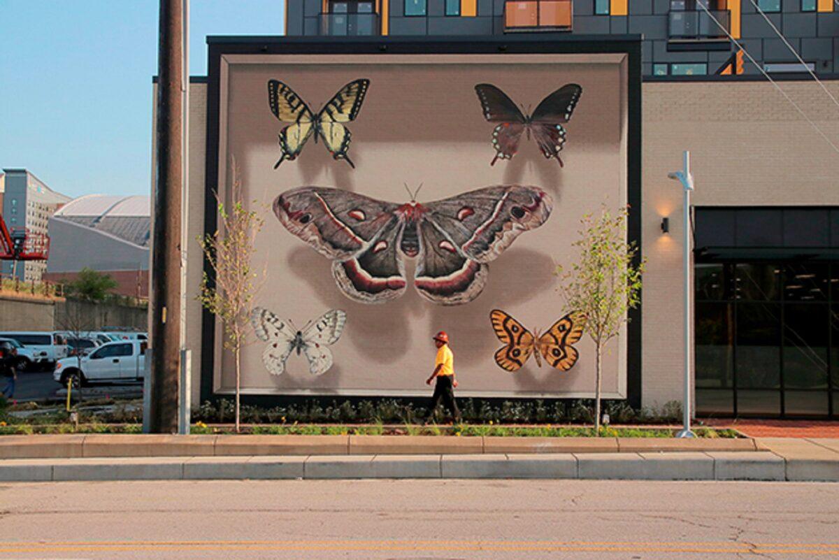 Mantra artista desenha borboletas em paredes de diversas cidades pelo mundo 7