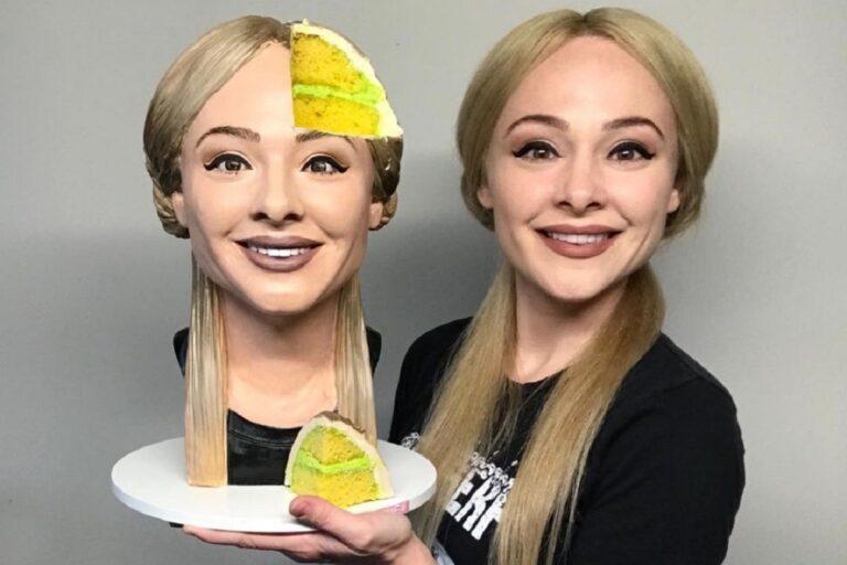 Natalie Sideserf confeiteira cria bolo selfie e surpreende 1