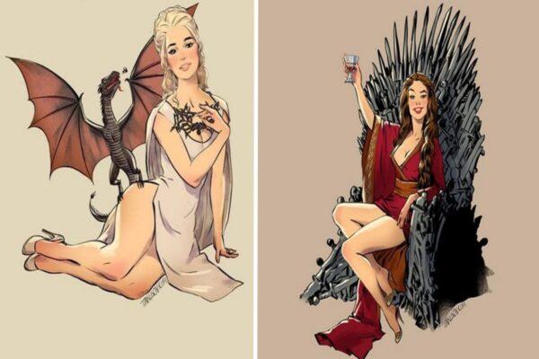Andrew Tarusov ilustrador russo cria versao pin up de personagens de Game of Thrones 23