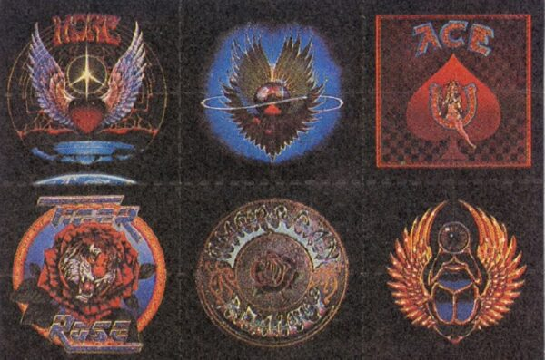Artes nas cartelas de LSD 50