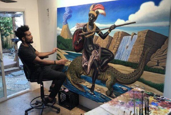 Kajahl artista americano subverte eurocentrismo racista com retratos incriveis de pessoas negras 8