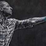Konstantin Hlanta artista russo cria retrato de Chester Bennington com fios e unhas 6