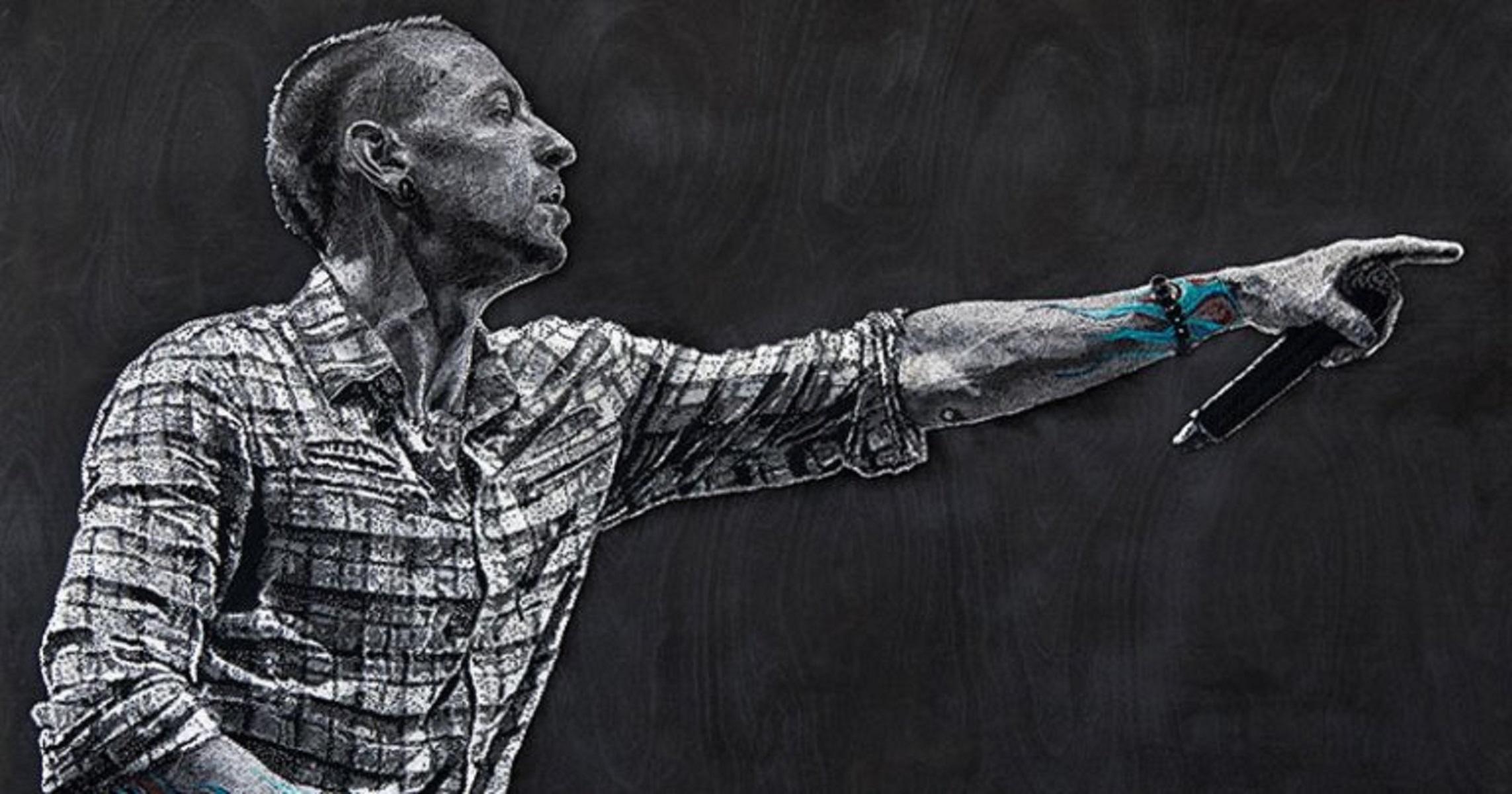 Konstantin Hlanta: artista russo cria retrato de Chester Bennington usando fios e unhas