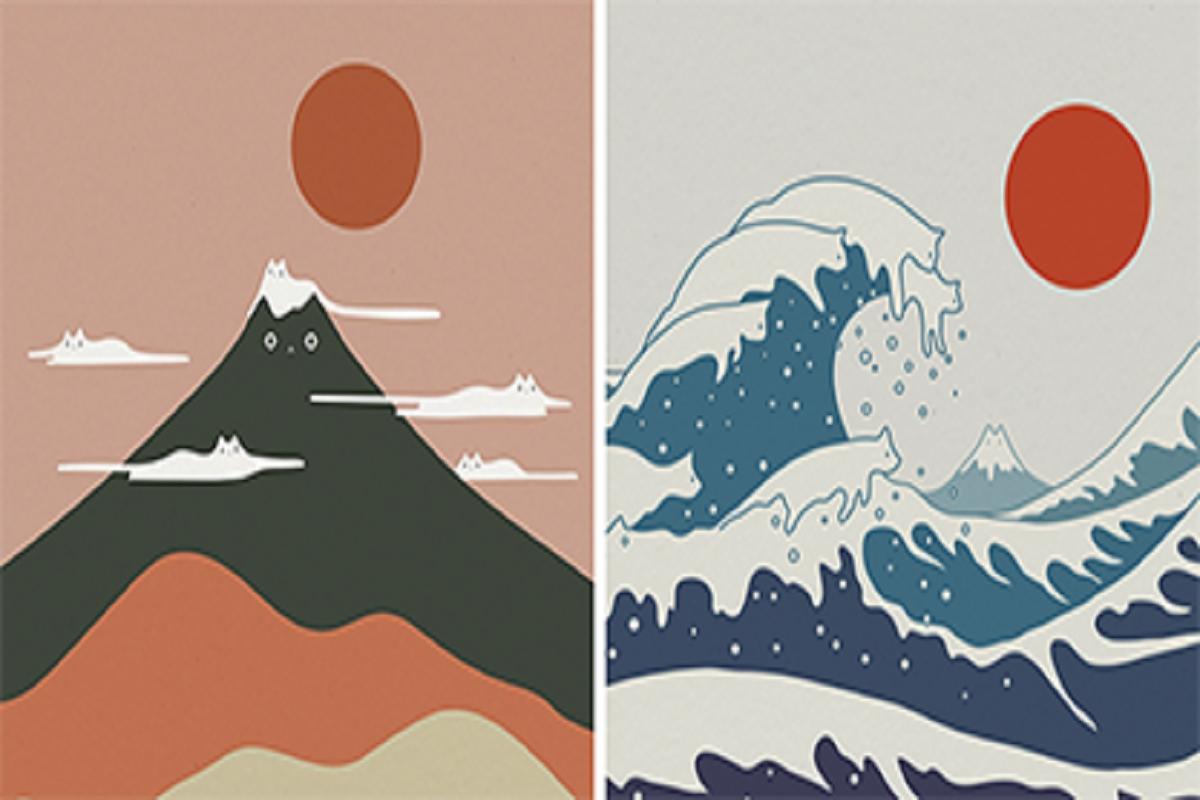 Lim Heng Swee: ilustrações inserem gatos em cenas e paisagens minimalistas