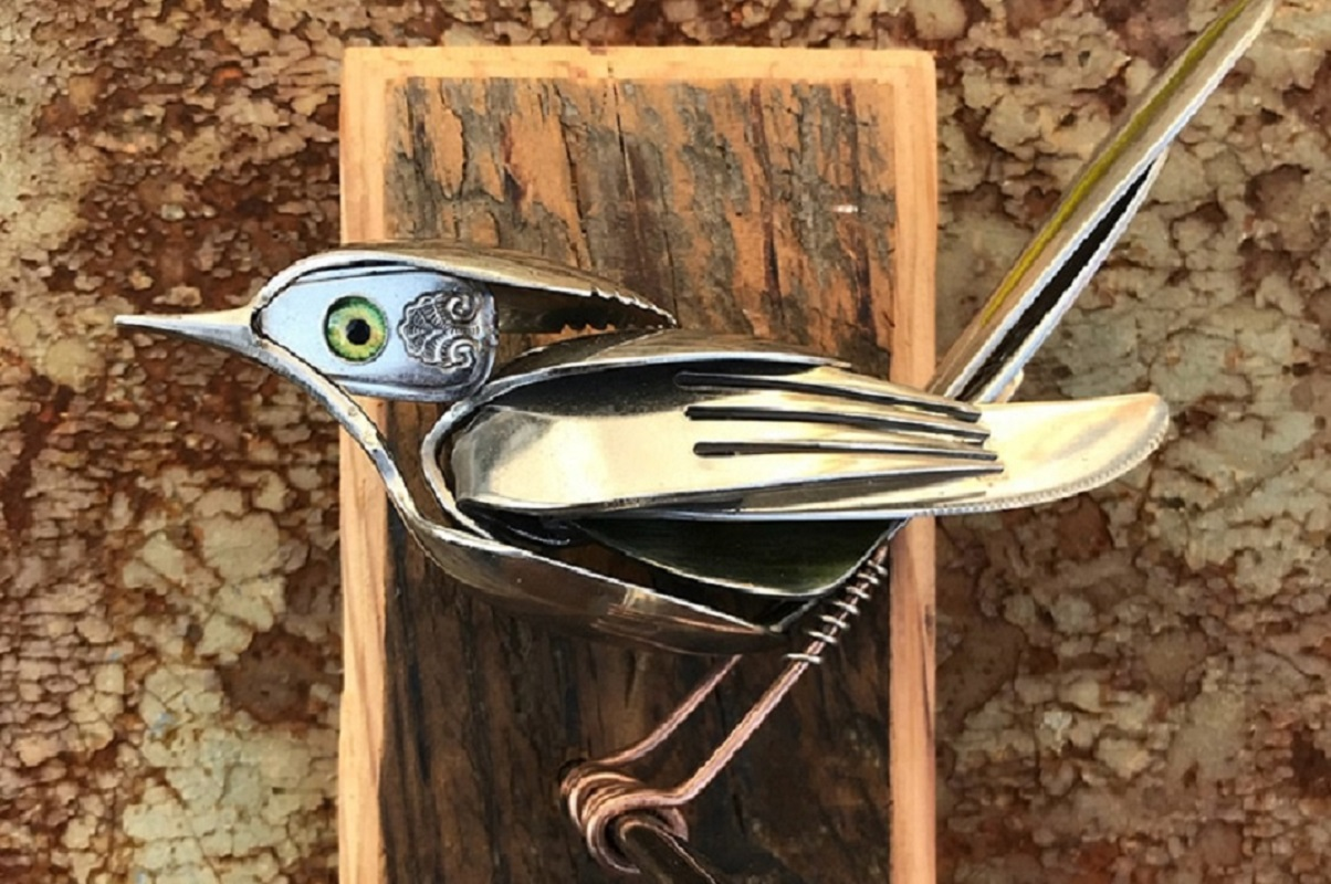 Matt Wilson: artista cria esculturas de pássaros com sucata