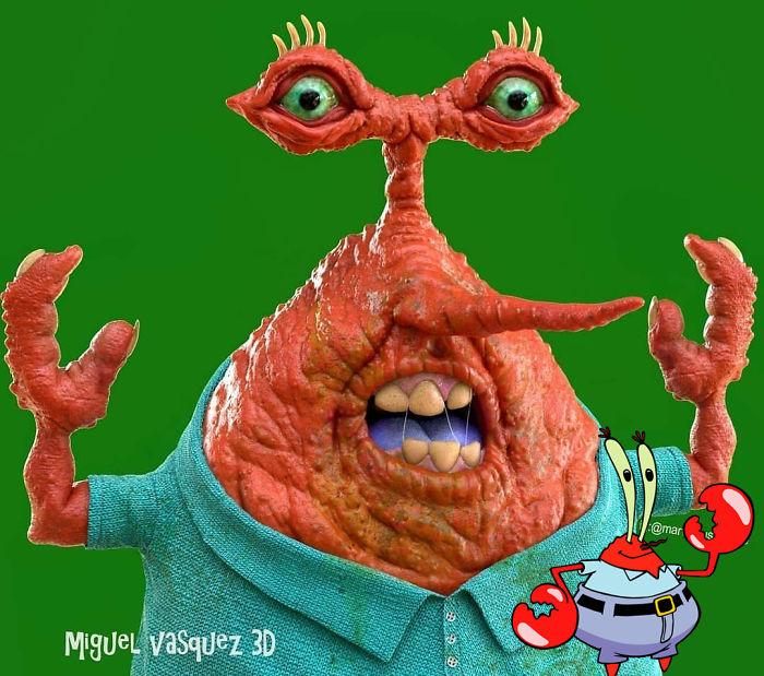 Miguel Vasquez artista mostra como seriam personagens da animacao na vida real 10