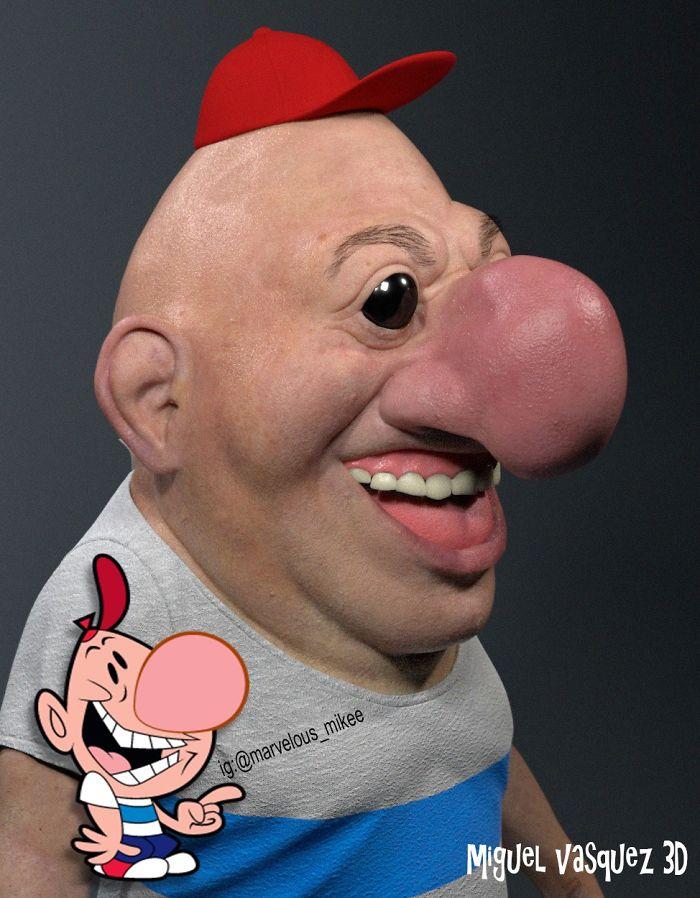 Miguel Vasquez artista mostra como seriam personagens da animacao na vida real 13