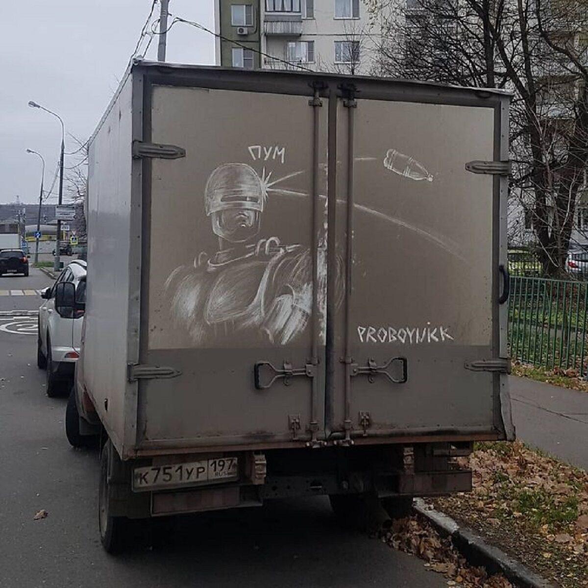 Nikita Golubev artista russa cria desenhos incriveis em caminhoes e tecnica chama atencao 11
