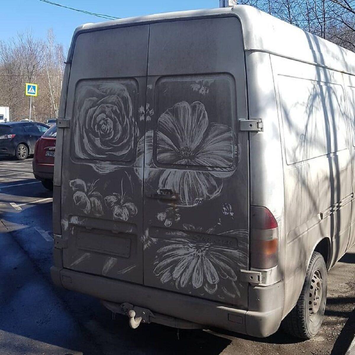 Nikita Golubev artista russa cria desenhos incriveis em caminhoes e tecnica chama atencao 12