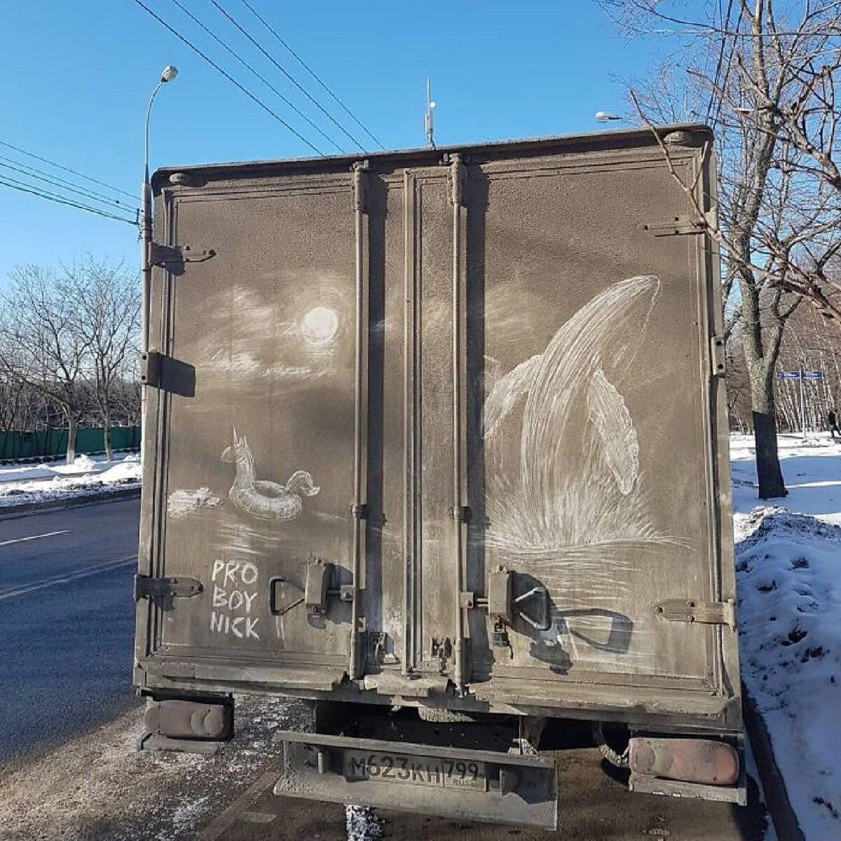 Nikita Golubev artista russa cria desenhos incriveis em caminhoes e tecnica chama atencao 14