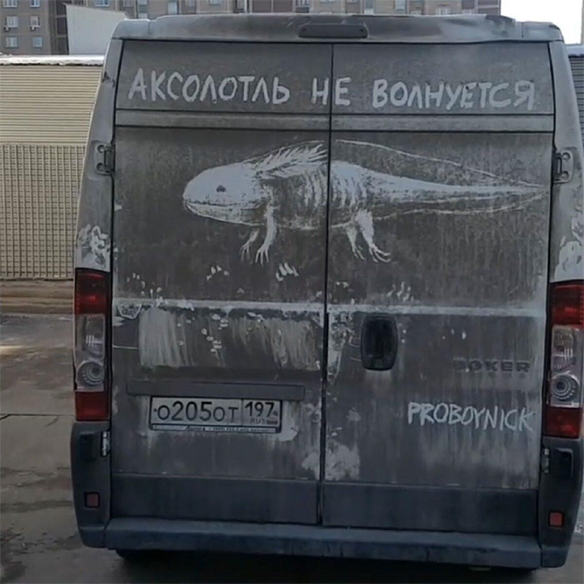 Nikita Golubev artista russa cria desenhos incriveis em caminhoes e tecnica chama atencao 15