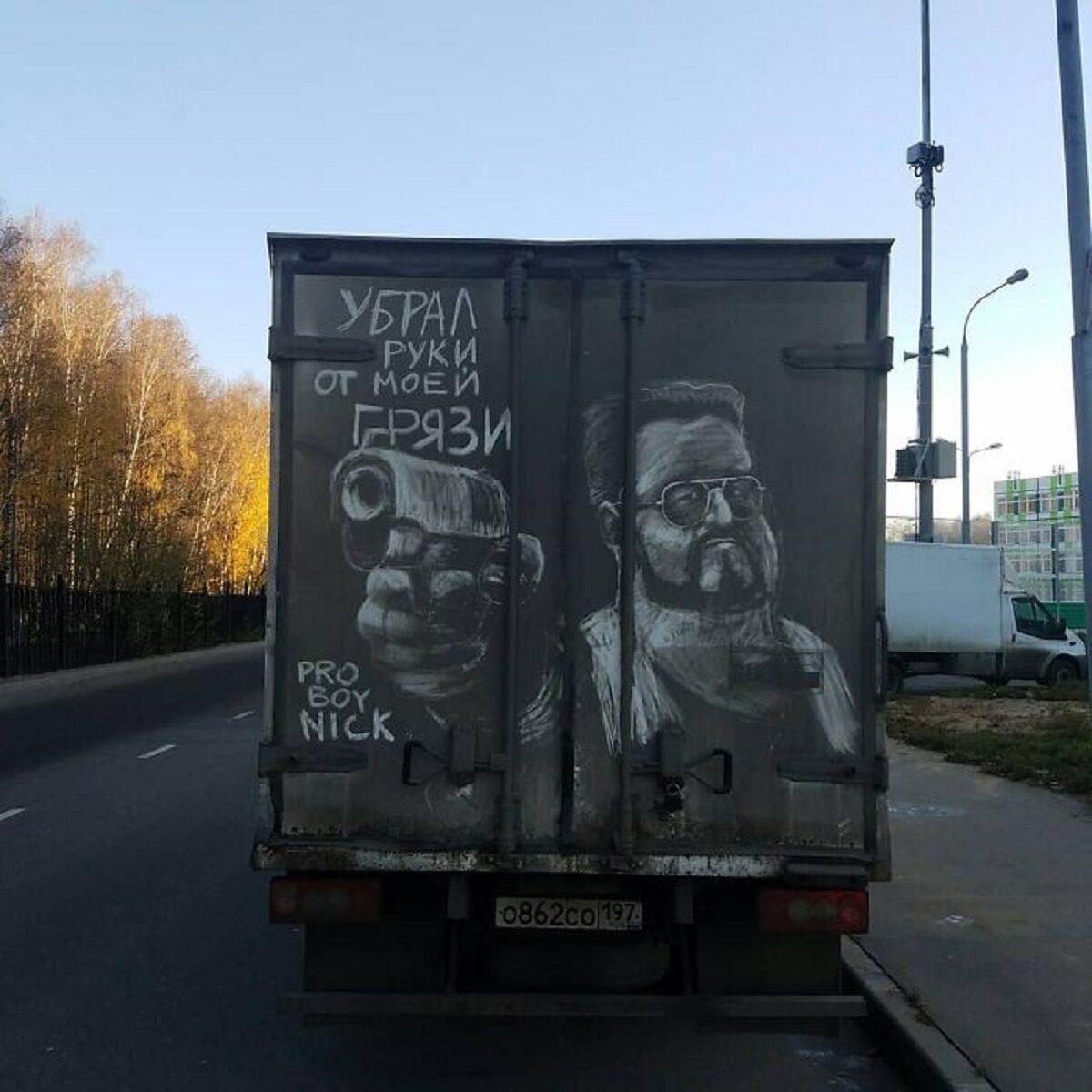 Nikita Golubev artista russa cria desenhos incriveis em caminhoes e tecnica chama atencao 17