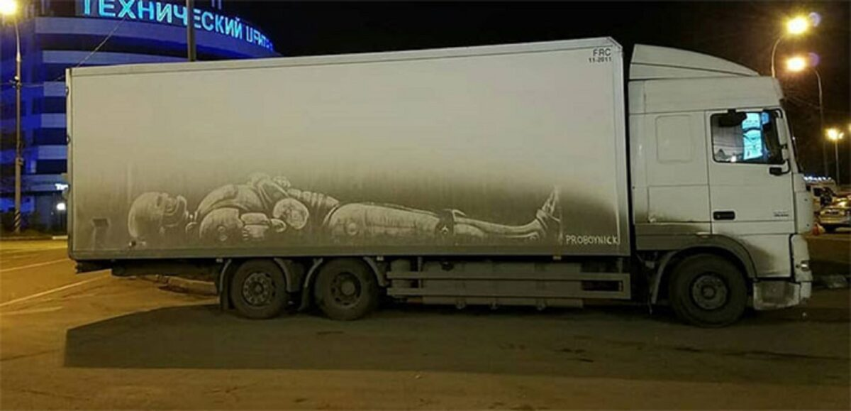 Nikita Golubev artista russa cria desenhos incriveis em caminhoes e tecnica chama atencao 2