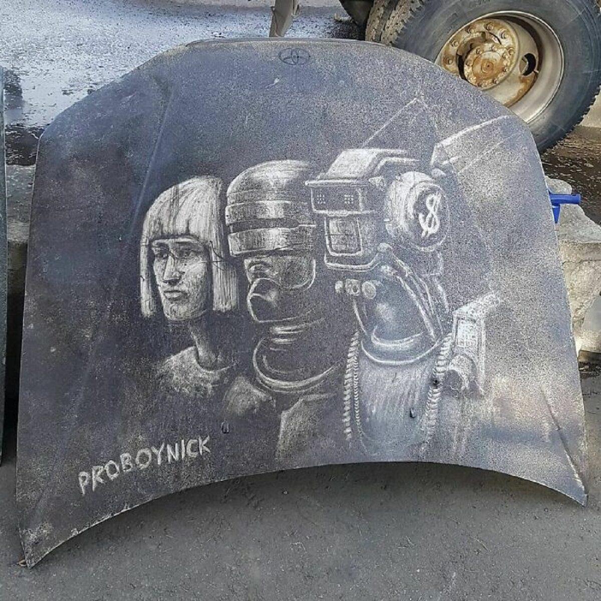 Nikita Golubev artista russa cria desenhos incriveis em caminhoes e tecnica chama atencao 24