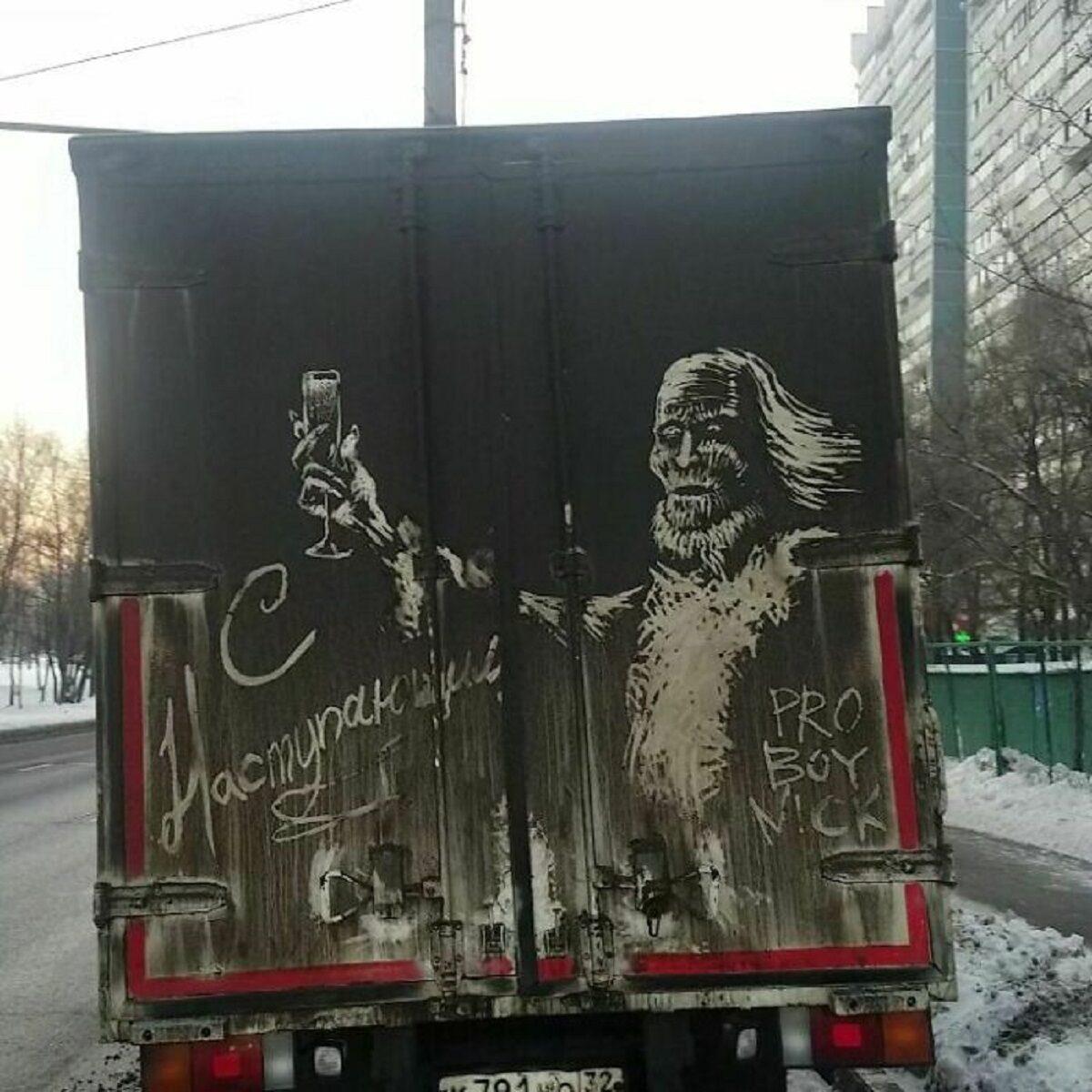 Nikita Golubev artista russa cria desenhos incriveis em caminhoes e tecnica chama atencao 29