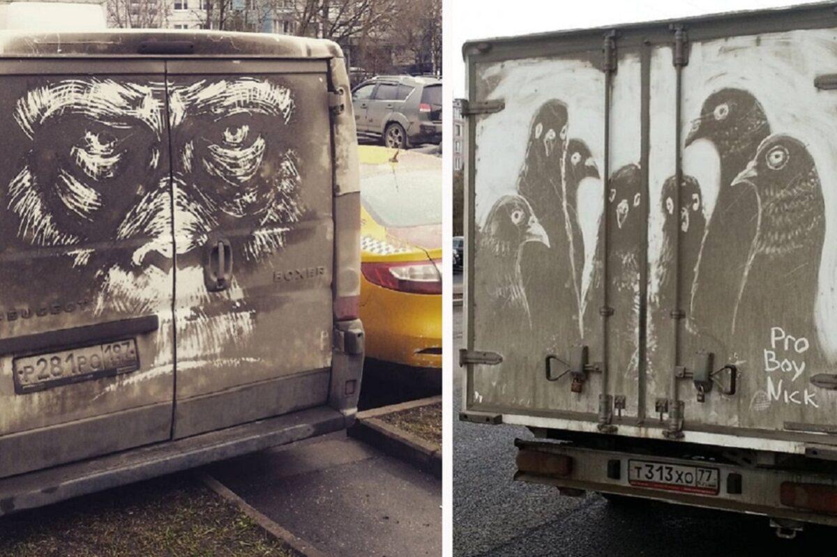 Nikita Golubev artista russa cria desenhos incriveis em caminhoes e tecnica chama atencao 50