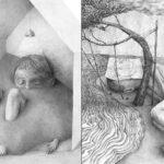 Stefan Zsaitsits artista austriaco cria desenhos em preto e branco para representar sentimentos da vida moderna 10