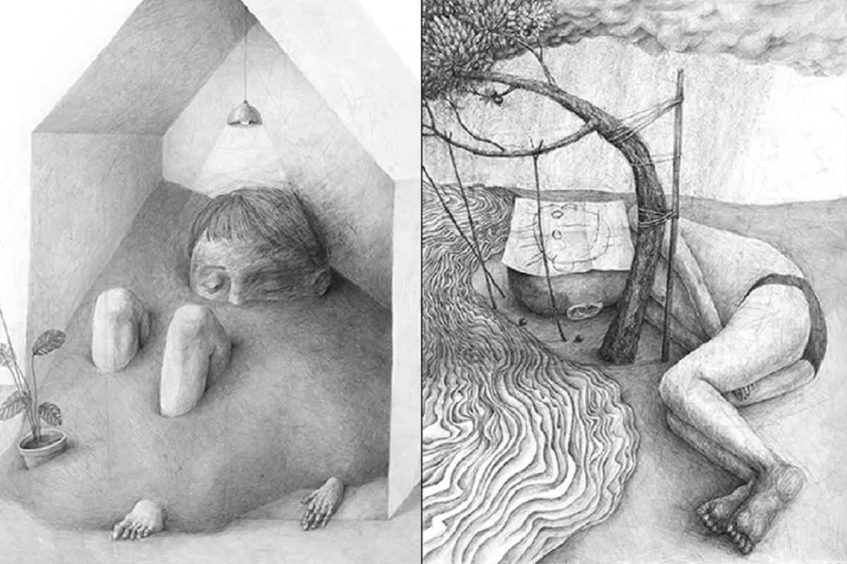 Stefan Zsaitsits: artista austríaco cria desenhos em preto e branco que representam sentimentos da vida moderna