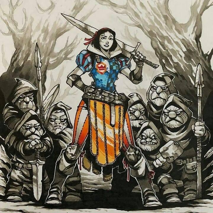 Artemii Myasnikov artista cria versao de Princesas Disney como personagens de RPG 1