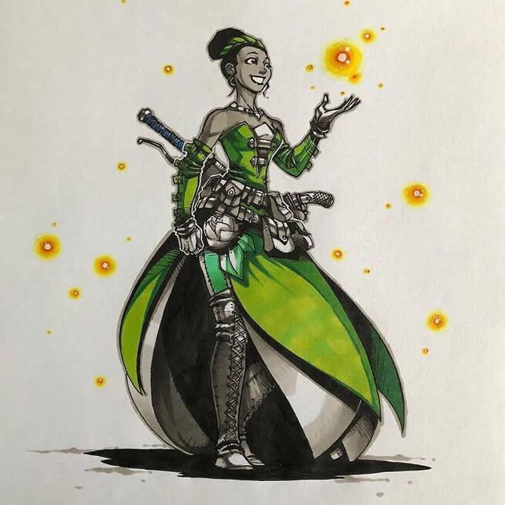 Artemii Myasnikov artista cria versao de Princesas Disney como personagens de RPG 10