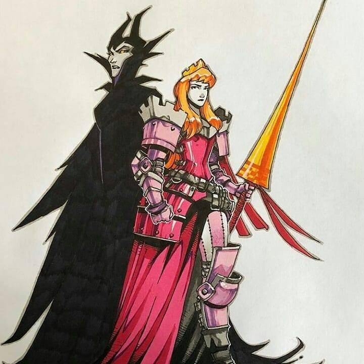 Artemii Myasnikov artista cria versao de Princesas Disney como personagens de RPG 5