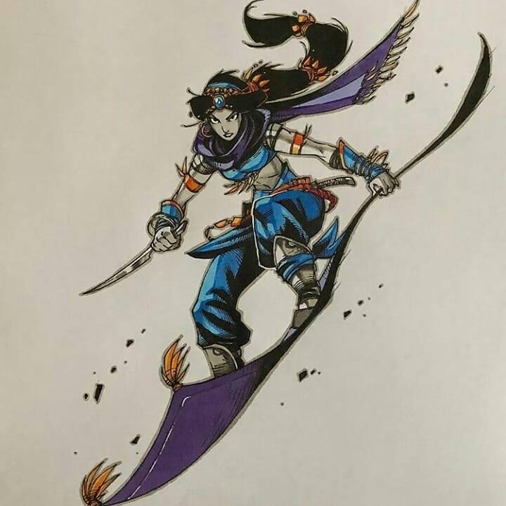 Artemii Myasnikov artista cria versao de Princesas Disney como personagens de RPG 6