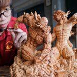 Duy Tran artista vietnamita cria escultura de Attack on Titan