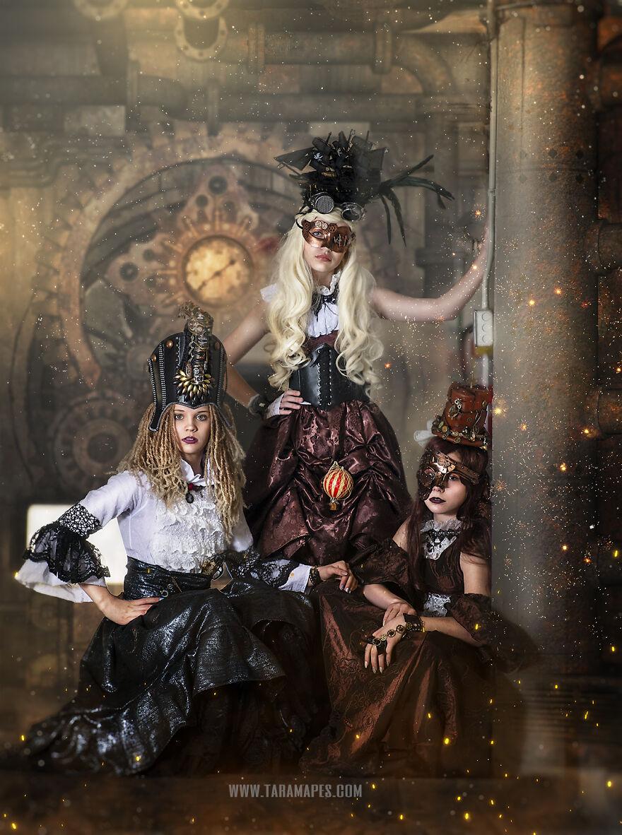 Enchanted Eye Creations: projeto cria fotos steampunk em antigo armazém de Cincinnati