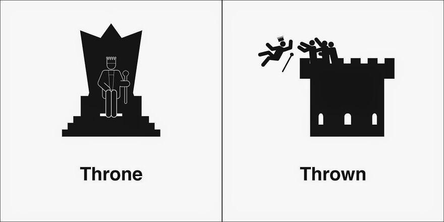 'Homophones, Weakly': projeto cria ilustrações com palavra homófonas
