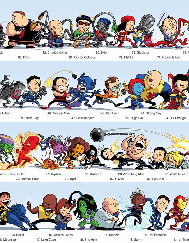 Ilias Kyriazis artista grego cria ilustracao de 9m de personagens Marvel