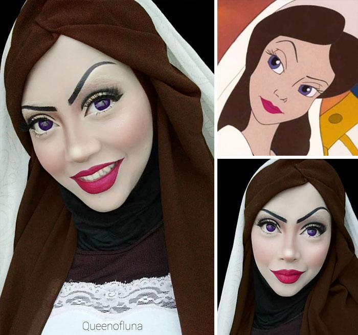 Saraswati: artista reproduz personagens da cultura pop com maquiagem