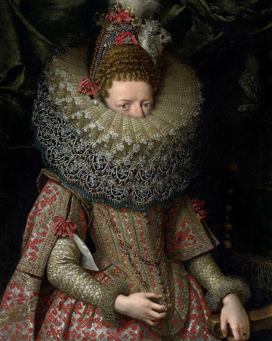 Volker Hermes artista adiciona mascaras em pinturas classicas 3