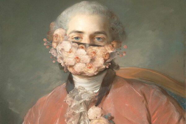 Volker Hermes artista adiciona mascaras em pinturas classicas 50