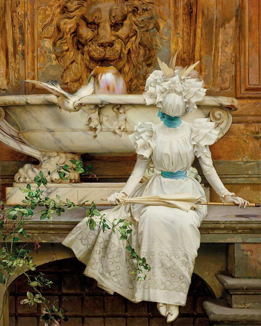 Volker Hermes artista adiciona mascaras em pinturas classicas 6