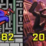 A evolucao do Homem Aranha nos videogames desde 1982