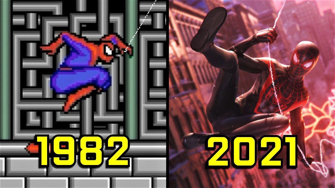 A evolução do Homem-Aranha nos videogames desde 1982