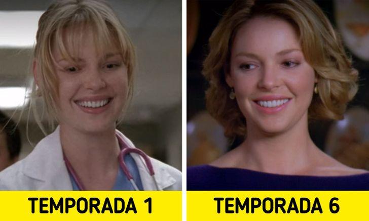 Antes e depois de personagens de Greys Anatomy 12