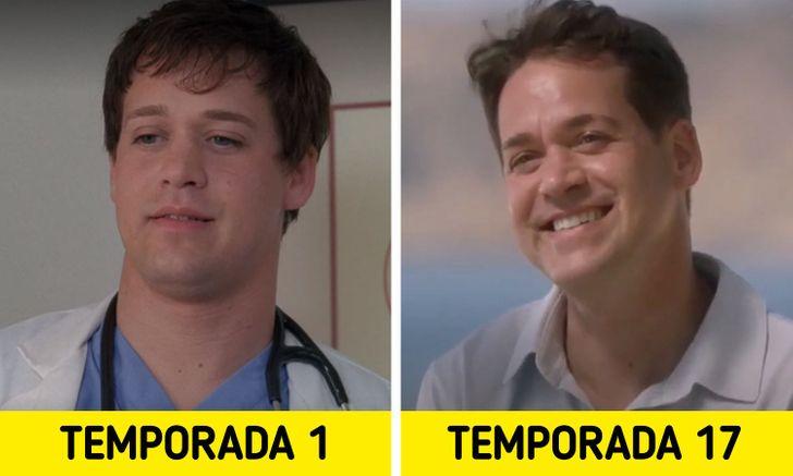 Antes e depois de personagens de Greys Anatomy 2