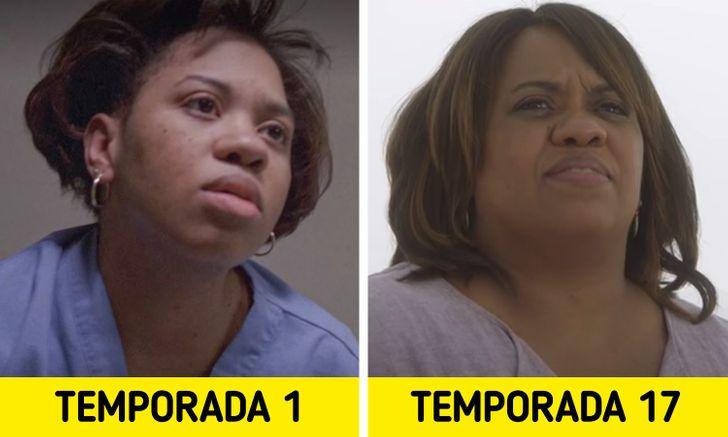 Antes e depois de personagens de Greys Anatomy 3