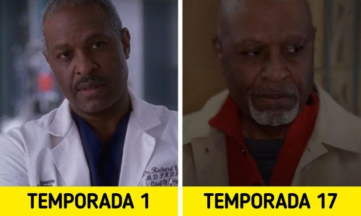 Antes e depois de personagens de Greys Anatomy 4
