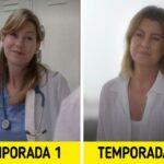 Antes e depois de personagens de Greys Anatomy 50