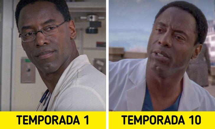 Antes e depois de personagens de Greys Anatomy 9