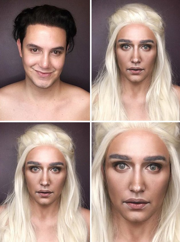 Paolo Ballesteros personagens de Game Of Thrones com maquiagem 1