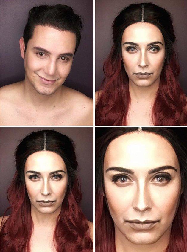 Paolo Ballesteros personagens de Game Of Thrones com maquiagem 2