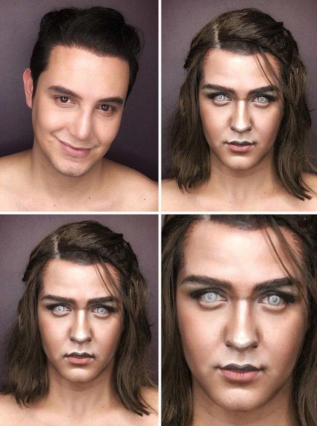 Paolo Ballesteros personagens de Game Of Thrones com maquiagem 4
