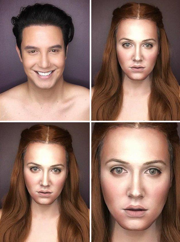 Paolo Ballesteros personagens de Game Of Thrones com maquiagem 5