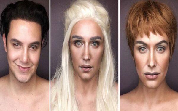 Paolo Ballesteros personagens de Game Of Thrones com maquiagem 50