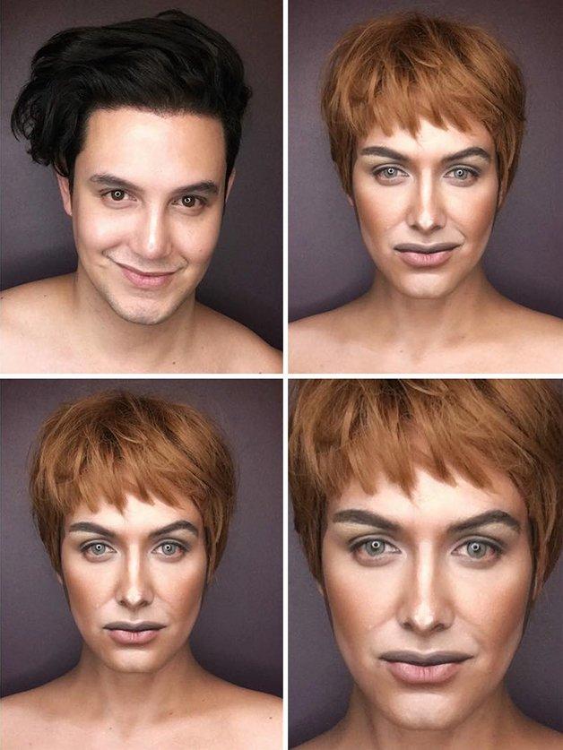 Paolo Ballesteros personagens de Game Of Thrones com maquiagem 7
