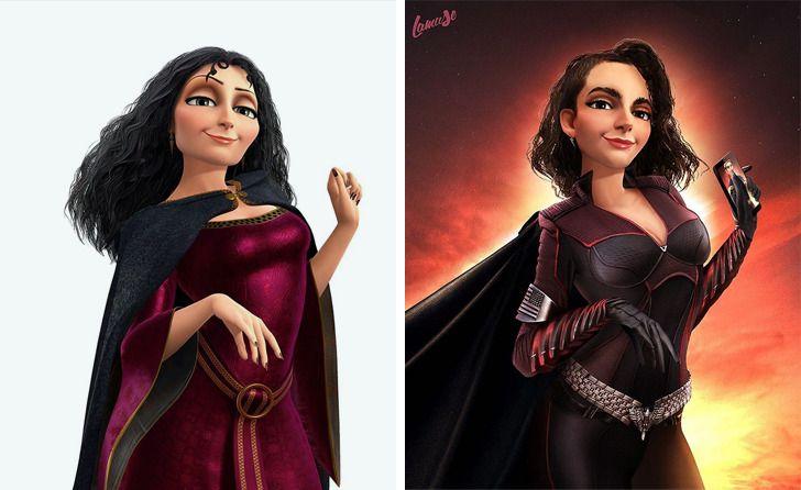 Samuel Chevee designer grafico frances cria personagens da Disney como herois da acao 14