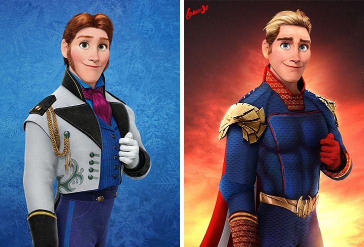 Samuel Chevee designer grafico frances cria personagens da Disney como herois da acao 15